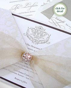 Vienna ivory damask invitation