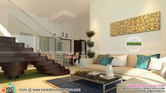 nice Living, staircase, kitchen and bedroom interior
