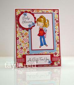 Baby Shower card Moka Jenn by Wanda Guess #Moka