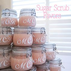 DIY sugar scrub favors  all you need is dawns olay soap and sugar. then just mix it!!! enjoy