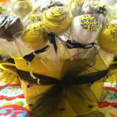 Bumble Bee theme cake pops