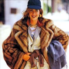 """""""#fashionthrowback Karen Mulder wearing CHANEL and Fendi, styled by Carlyne Cerf De Dudzeele and photographed by Patrick Demarchlier for US Vogue August 1991 issue"""" Photo taken by @chanel_archives on Instagram, pinned via the InstaPin iOS App! http://www.instapinapp.com (03/04/2015)"""