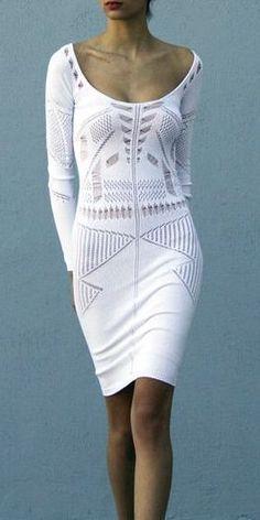 Knit Dress, Dress Skirt, Sweater Dresses, Mode Crochet, White Fashion, Boho, Passion For Fashion, Dress To Impress, Style Me