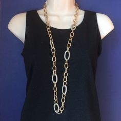 """NWT Long Statement Necklace Gold and bead necklace perfect for layering or by itself. Approximately 35"""" with 2"""" adjustable extender. No trades. Generous discount with bundle. Miram Haskell Jewelry Necklaces"""