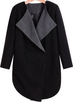 Shop Black Lapel Long Sleeve Slim Woolen Coat online. Sheinside offers Black Lapel Long Sleeve Slim Woolen Coat & more to fit your fashionable needs. Free Shipping Worldwide!