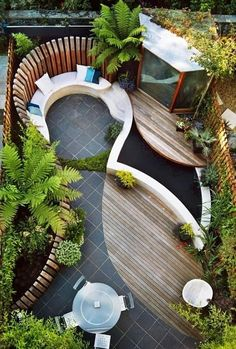 Helena Smith :   This is really nice... own little private landscaped retreat Source: http://mostbeautifulgardens.com/low-maintenance-landscaping-ideas/