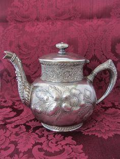 Antique sliver teapot RESERVED FOR JENNA.