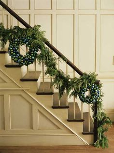 Use dark green zip ties to help keep garlands and other greenery in place when wrapping them around stair railings for the holidays.