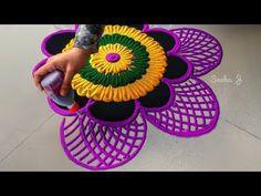 Easy and attractive rangoli design Diwali special multicolored rangoli design Simple Rangoli Designs Images, Small Rangoli Design, Colorful Rangoli Designs, Rangoli Ideas, Rangoli Designs Diwali, Beautiful Rangoli Designs, Mehndi Designs, Easy Rangoli, Happy Diwali Rangoli