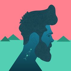 """Mountain Man"" Art Print by Chyworks on Society6."