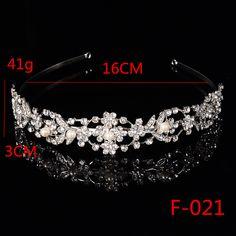 F021 Crystal Rhinestone Wedding Party Flower Girl hairband Kids Tiara Crown Headband