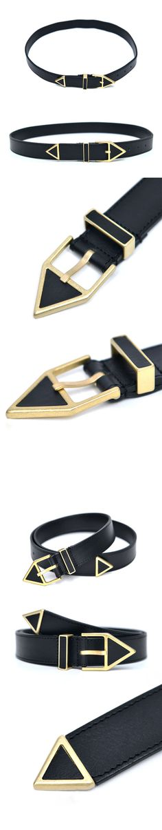 Accessories :: Gold Triangle Designers Buckle-Belt 147 - GUYLOOK Men's Trendy…