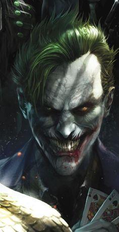 Joker by Ladislav Hubert - Home of the Alternative Movie Poster -AMP- Comic Del Joker, Le Joker Batman, Der Joker, Joker Heath, Joker Art, Batman Comics, Joker And Harley Quinn, Superman, Joker Images
