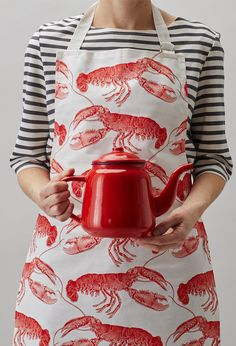 Thornback & Peel Lobster apron - screen printed on durable white cotton.