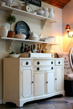 for when I turn my hutch into a buffet... I like the shelves on the wall