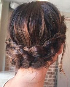 Beautiful crown braid updo wedding hairstyle for romantic brides - Bridal hairstyle. Get inspired by this low updo bridal hair gorgeous styles,hairstyles # crown Braids brides Beautiful crown braid updo wedding hairstyle for romantic brides Bridal Hairstyles With Braids, Bridal Hair Updo, Braided Crown Hairstyles, Bridesmaid Hair Updo Braid, Wedding Hairstyles For Girls, Prom Hair Updo, Evening Hairstyles, Shag Hairstyles, Hairstyles 2016