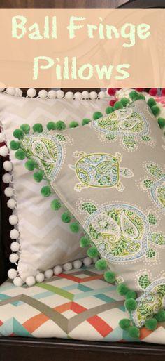 Ball Fringe Pillows   Crafts a la mode