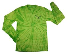 """Soft neon tie-dye long sleeve with Swords over the heart and """"FLYARMD"""" across the back!"""
