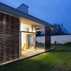 TD House is a Family House designed in 2014 by sporaarchitects. Located in Debrecen, Hungary, the house has an area of m² ft²). Style At Home, Modern Art Deco, Stair Railing, Modern House Plans, House And Home Magazine, Windows And Doors, Interior Architecture, Concrete, New Homes