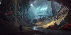 Desert Cavern Concept, Wes Wheeler on ArtStation at https://www.artstation.com/artwork/desert-cavern-concept