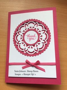 Tania Johnson : Stamp Haven: 2017 Eastern Palace Bundle, 2017 - 2018 Annual Catalogue, Stampin' Up!, #medallion, thank you
