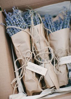 It's hard to resist the smell of lavender, gift it to your guests for a sweet send-off. Wedding Favors, Wedding Ideas, unique Wedding Favors, Summer Wedding