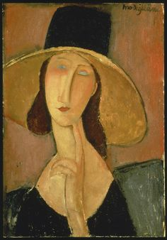 Image ID:  7954  Artist:  Modigliani, Amadeo,1884-1920  Imagetitle:  Portrait of Jeanne Hebuterne in a large hat. 1917  Dimensions:  55 x 38 cm  Location:  Christie's Images Ltd  Photo:  © Christie's Images Ltd - ARTOTHEK