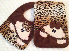 Baby Girl Flannel/Minky Peeker Burp Cloth & by AliDianneCreations, $10.00