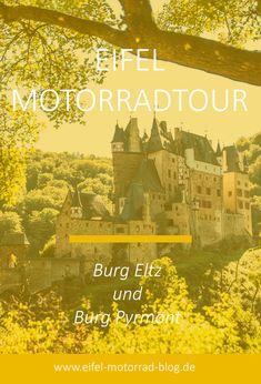 EIFEL MOTORRAD TOUR - Burg Eltz und Burg Pyrmont /// Diese Eifel-Motorradtour führt vorbei am Laacher See zur Burg Eltz und Burg Pyrmont. Über den Nürburgring geht es später noch an die Ahr... Eifel, Reisen In Europa, Dom, Movies, Movie Posters, Tours, Rheinland, Films, Film