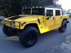 1997 H1 Yellow Convertible Custom Hummer Truck