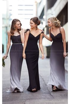 Sorella Vita Black Ombre Bridesmaid Dress Style 8414OM