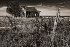Old abandoned house in Osage County,Oklahoma