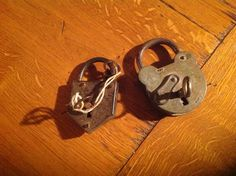 2 Original French Industrial Padlocks and Keys with Excellent Vintage Patina. The Padlocks are in great Working Order. by fleursenfrance. Explore more products on http://fleursenfrance.etsy.com