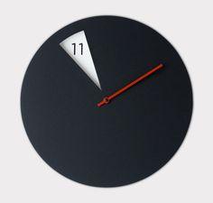 černá freakishclock moderní designer nástěnné hodiny