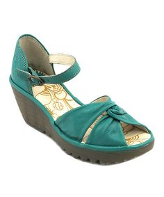 Take a look at this Peacock Yuka Wedge by FLY London on #zulily today! $100 !!