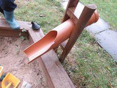 Sandrutsche aus PVC Rohr - Gartengestaltung ideen Sand slide made of PVC pipe Sand slide made of PVC