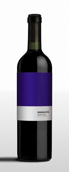 Minimalista - Syrah #wine #wineconcept #brandconcept #packaging #winelabel #design #minimalist #abstract #purism #colors #essentials #embalaje By: Nano Alfonsin