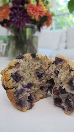 A post about a candida diet blueberry muffin recipe and gluten-free muffin.