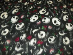 Nightmare Before Christmas  Fleece Fabric by the Yard The Darkside on Etsy, $11.00