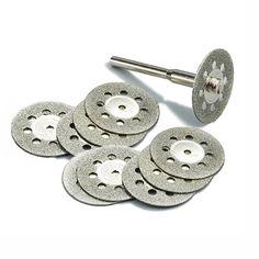 10 unid 22mm diamante herramientas Dremel accesorios de la Herramienta Rotatoria conjunto rueda de disco de corte de diamante muela de diamante para el vidrio