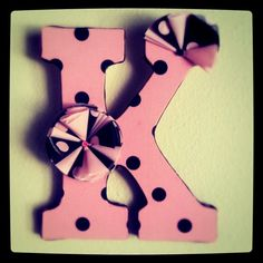 K is for Kristen.   Decorated Wood Letters