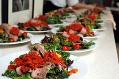 hearty salad for wedding luncheon by: http://www.katherine-king.com