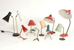 Assortment of McM table lamps