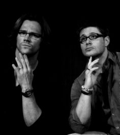 Nothing hotter than a sexy man in glasses--not my words! Its a fact! And yes both of them!