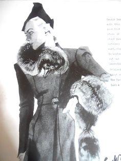 Coat by Elsa Schiaparelli, 1936, from Vogue magazine. #vintage #1930s #fashion
