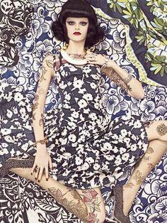 Vogue Patterns by Steven Meisel  Vogue Italia 2007