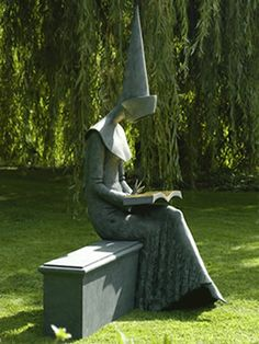 I'd put her in my garden...  Reading Chaucer - Philip Jackson (sculptor) Philip Henry Christopher Jackson CVO (born 1944) is an award-winning Scottish sculptor, noted for his modern style and emphasis on form. Acting as Royal Sculptor to Queen Elizabeth II, his sculptures appear in numerous UK cities, as well as Argentina and Switzerland.