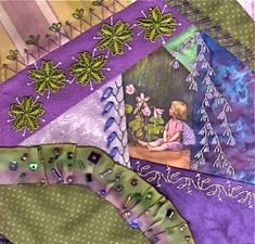 """This blog is a showcase of crazy quilting work by the members of the """"Crazy Quilting International"""" Facebook group. Members include stitchers from all over the world. We would love to have you join us - either as a stitcher, or just as an interested viewer. Have a seat and enjoy!"""