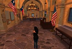 Inside OK Corral Building in Second Life #secondlife