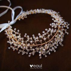 Rose Gold Jewelry, Wedding Jewelry, Hair Jewelry, Design Art Nouveau, Gold Headpiece, Bride Hair Accessories, Jewelry Accessories, Gold Jewellery Design, Boho